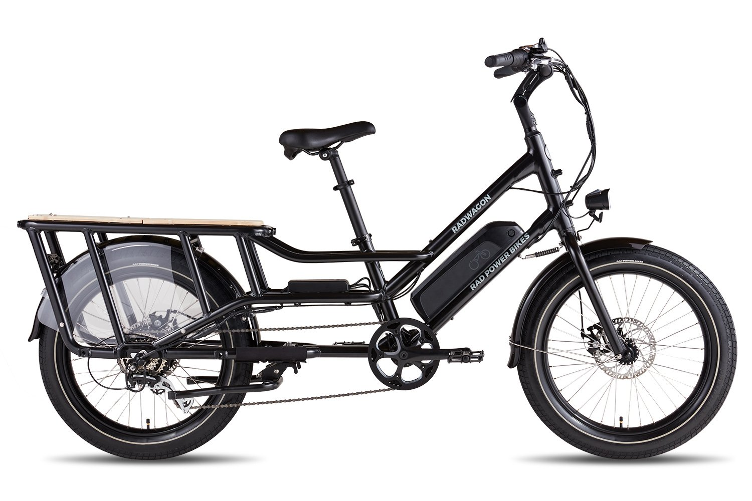 RadWagon4 Black Right View RadWagon 4 Electric Cargo Bike