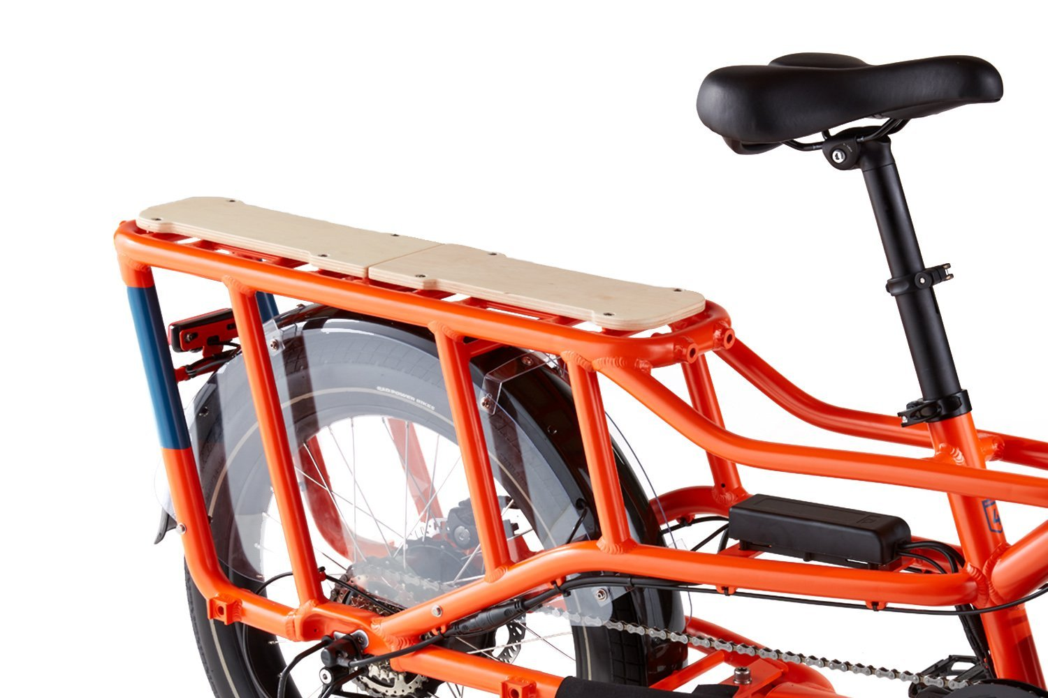 RadWagon4 Orange Rear Rack RadWagon 4 Electric Cargo Bike
