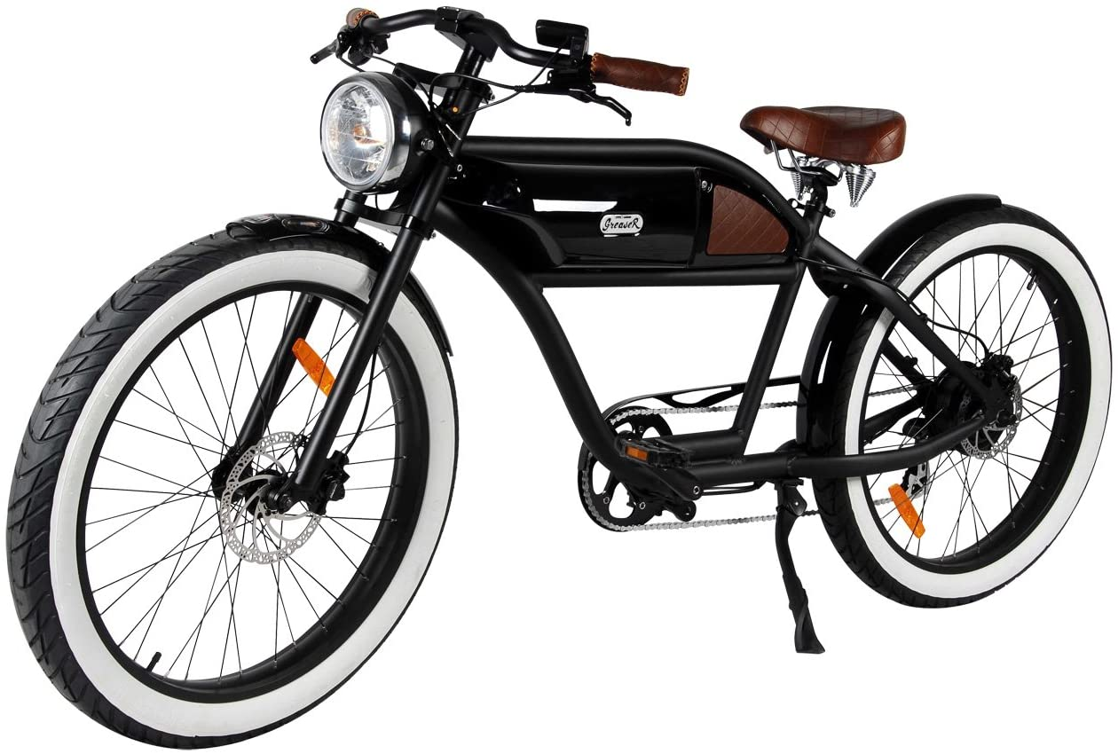 71eaIb7nUL. AC SL1500 T4B Greaser Retro Style Electric Bike