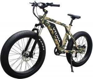 vtuvia 26 Inch 750W 48V 13Ah Electric Fat Tire Hunting Bicycle for Adults